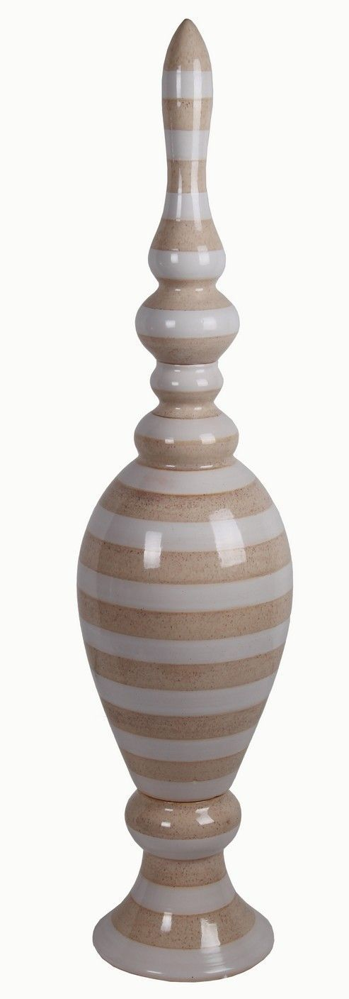 Ceramic Stripes Finial Figurine