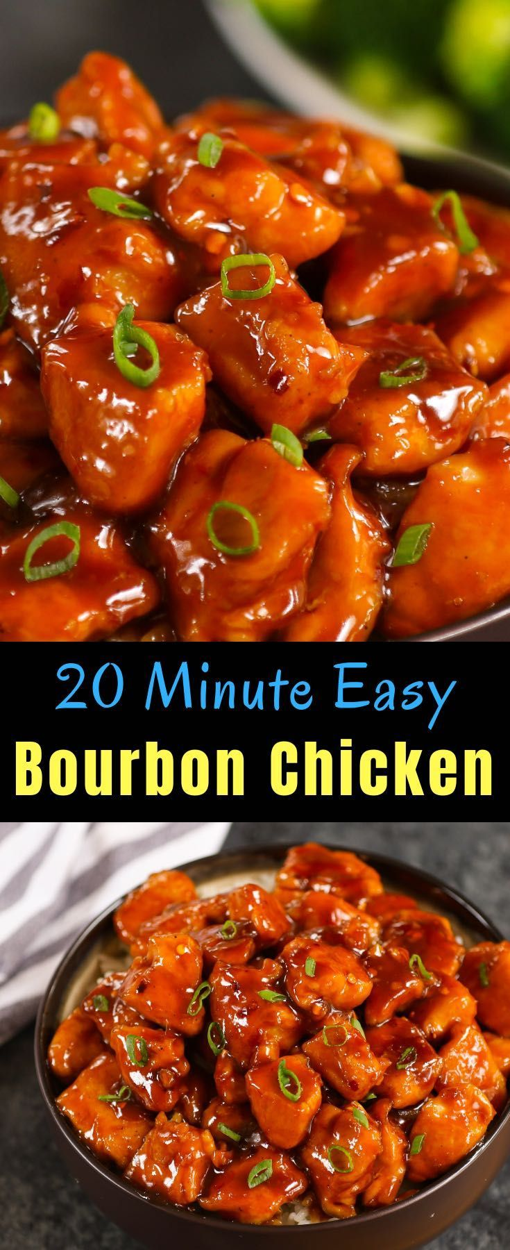 20 minute bourbon chicken a copycat of the chinese mall
