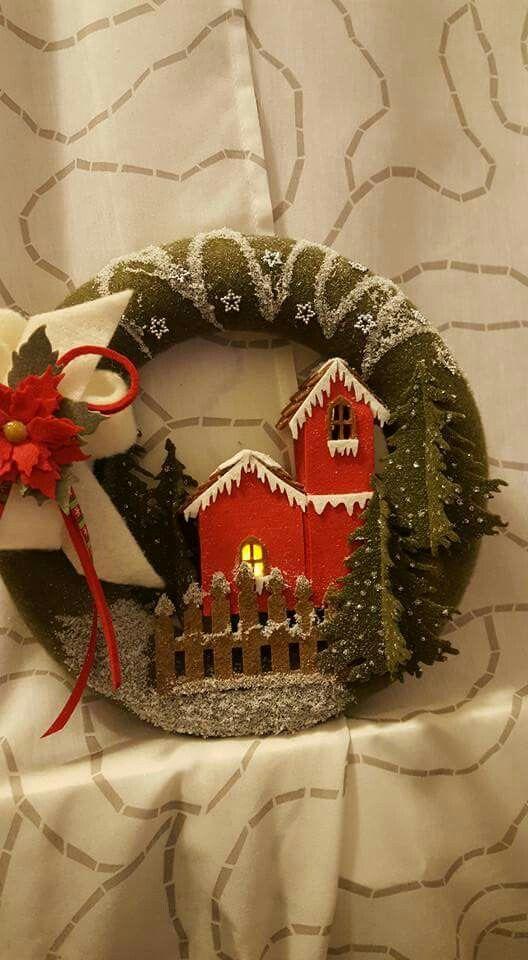 Photo of Ghirlanda di Natale Martina Mamamia Art e pannolenci