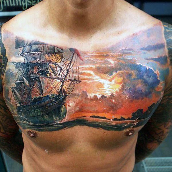 Tattoo Ideas Classic Ships Piercing Ideas Tattoo: Fading Daylight Sky Designs