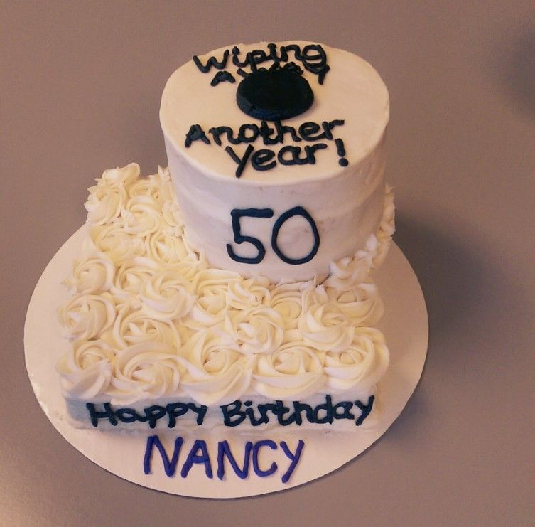 Excellent Funny Joke 50Th Birthday Cake Wiping Away Another Year With Funny Birthday Cards Online Inifodamsfinfo