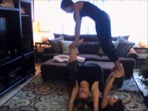 2 Or 3 Person Acro Tricks Stunts Youtube Yoga Challenge Poses 3 People Yoga Poses Cheer Stunts