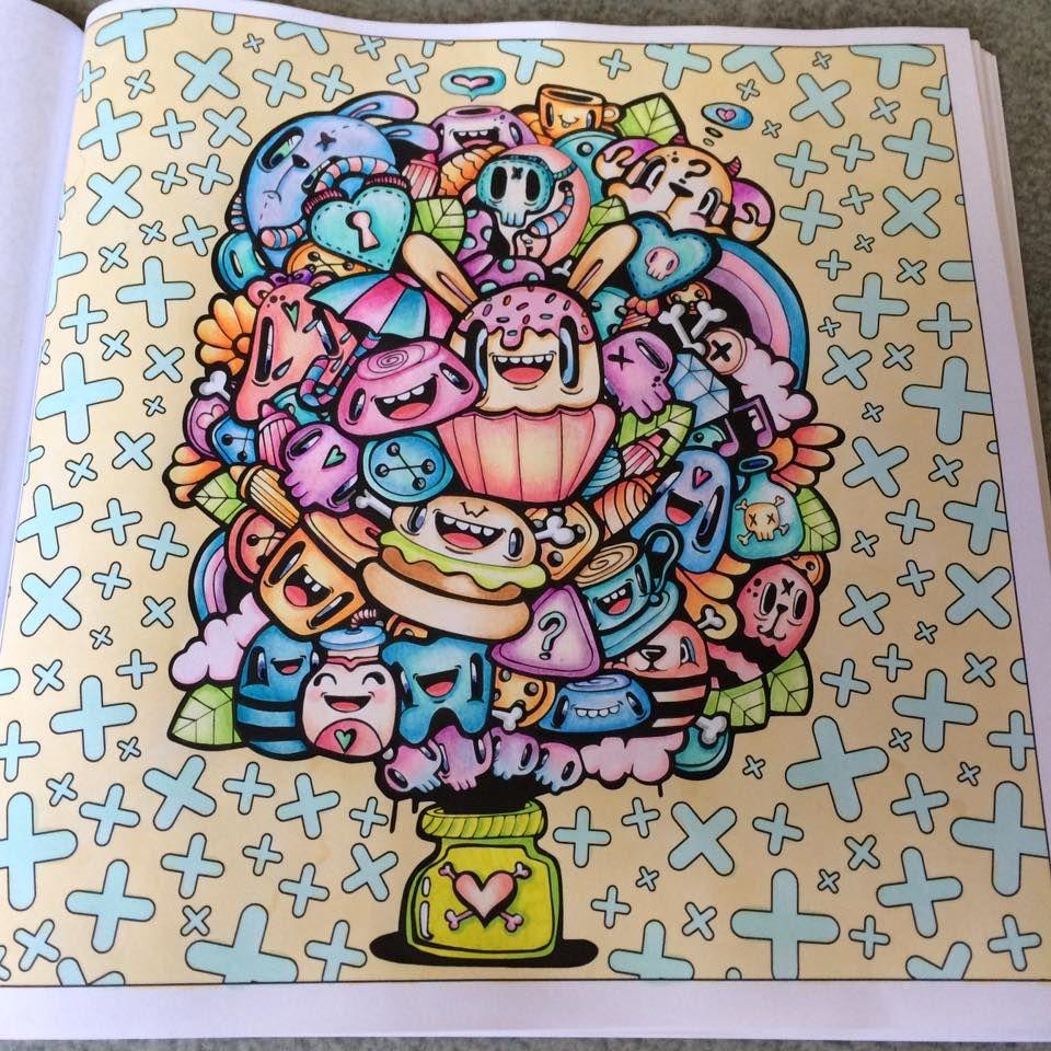 shades of kawaii miss wah cute colouring book my