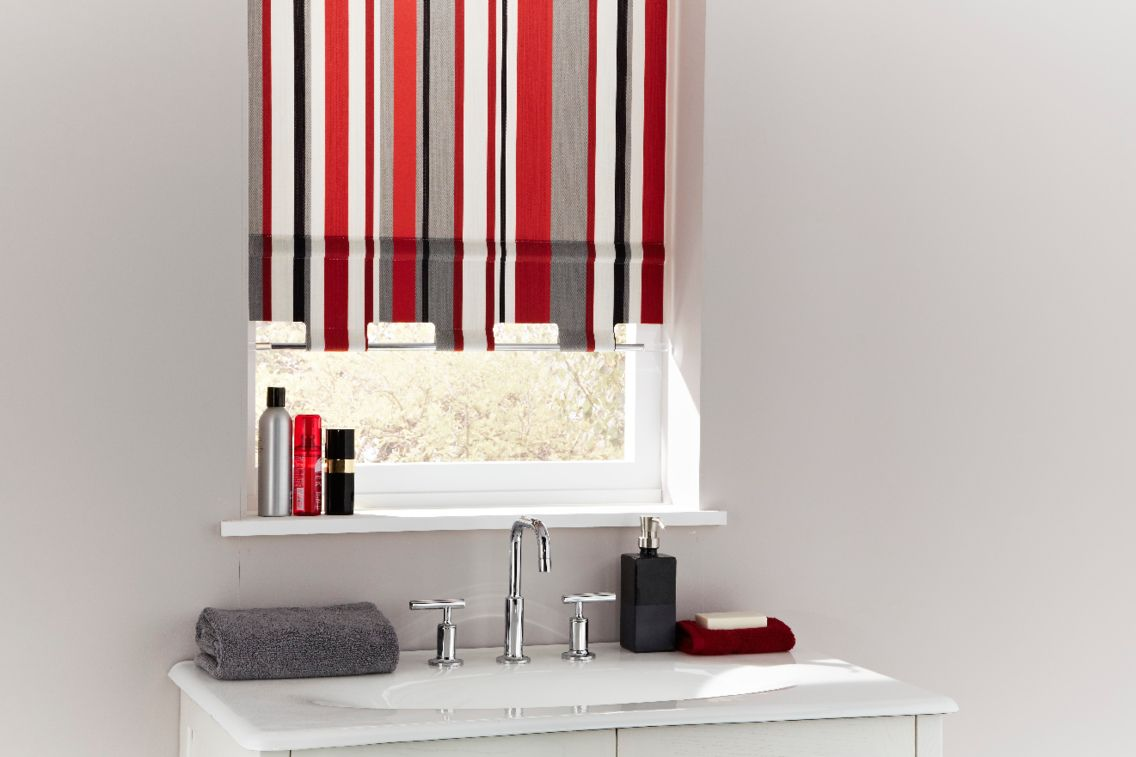 blinds stripe red out roller designer pin room blind boys black