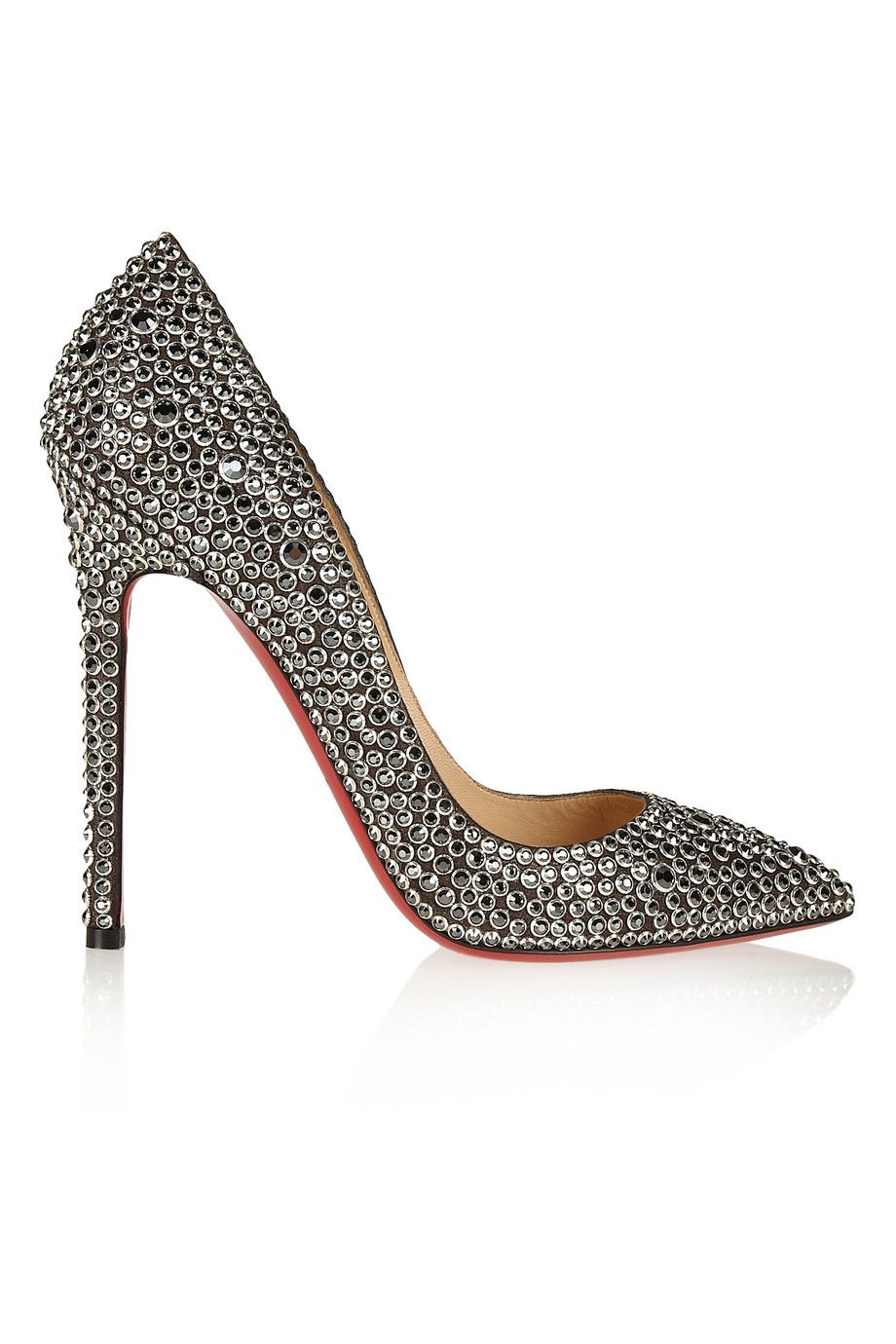 93d9ff4e198d CHRISTIAN LOUBOUTIN Pigalle 120 Crystal-Embellished Suede Pumps.   christianlouboutin  shoes  pumps