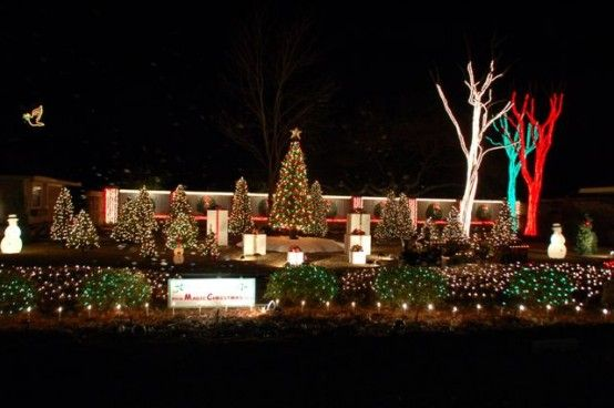 Walter And Jackie Monkhouse Are Serious When It Comes To Holiday Lights They Decorate Their H Outdoor Christmas Lights Christmas Lights White Christmas Lights
