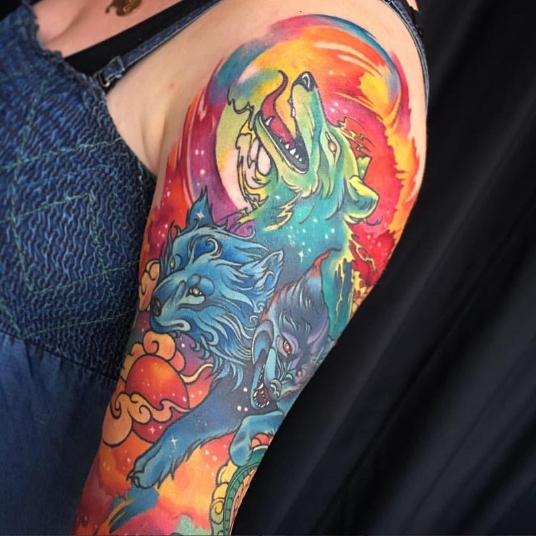 Chronic ink illustrative tattoo downtown toronto cerberus