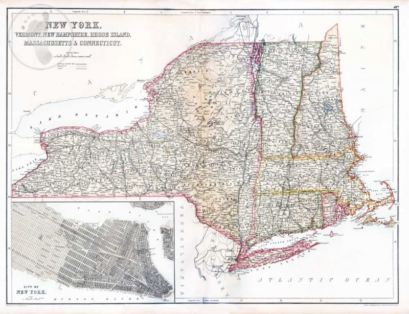 Map Of New York Vermont Border.Map Of New York Vermont New Hampshire Rhode Island