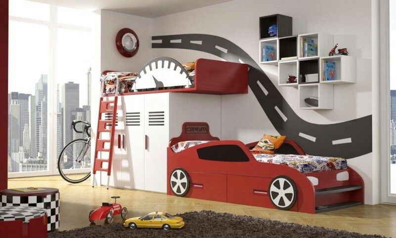 Car Bunk Beds Idee Camera Da Letto Moderna Cameretta Bambini Idee Stanza Di Bambino