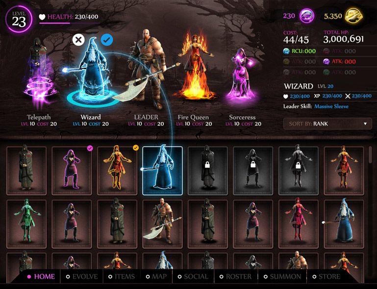 Game ui design portfolio