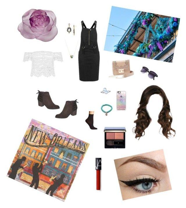 """New Orleans Style #2 💋🎺"" by gloria-camino on Polyvore featuring moda, Topshop, Falke, Indigo Road, Casetify, Aqua, Mimi & Lu, BillyTheTree, Clé de Peau Beauté e NARS Cosmetics"
