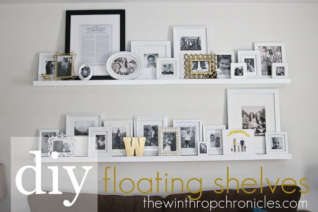 the winthrop chronicles: diy floating shelves
