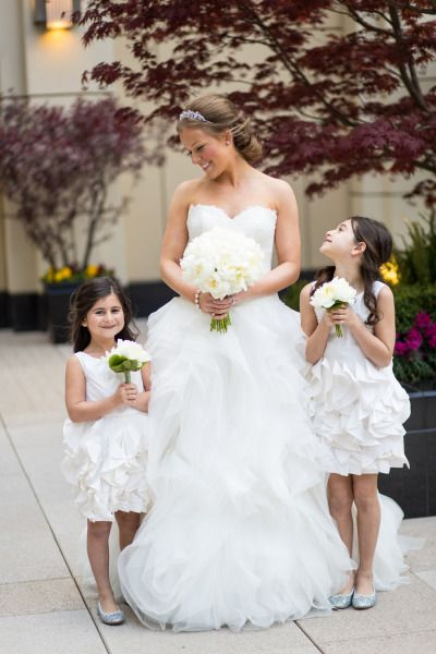 In love with these chic flower girl dresses!
