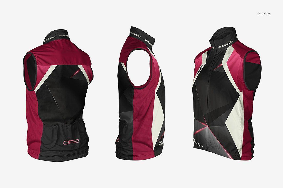 Cycling Vest Mockup Set #net#behance#creatsyofficial