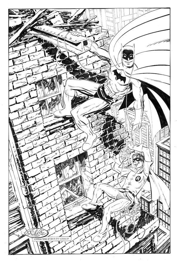 Batman Robin Commission By John Byrne 2013 Marvel Comics Vintage John Byrne Superhero Coloring Pages
