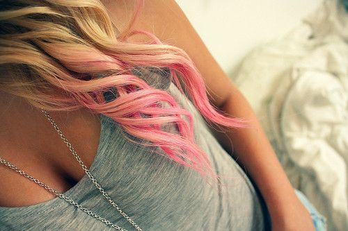 blonde and pink.