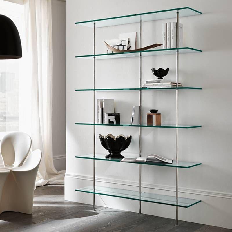 Tonelli Transparenza Glass Bookcase | Contemporary Living ...