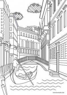 Image Result For Simple Venice Coloring Page Coloring Pages