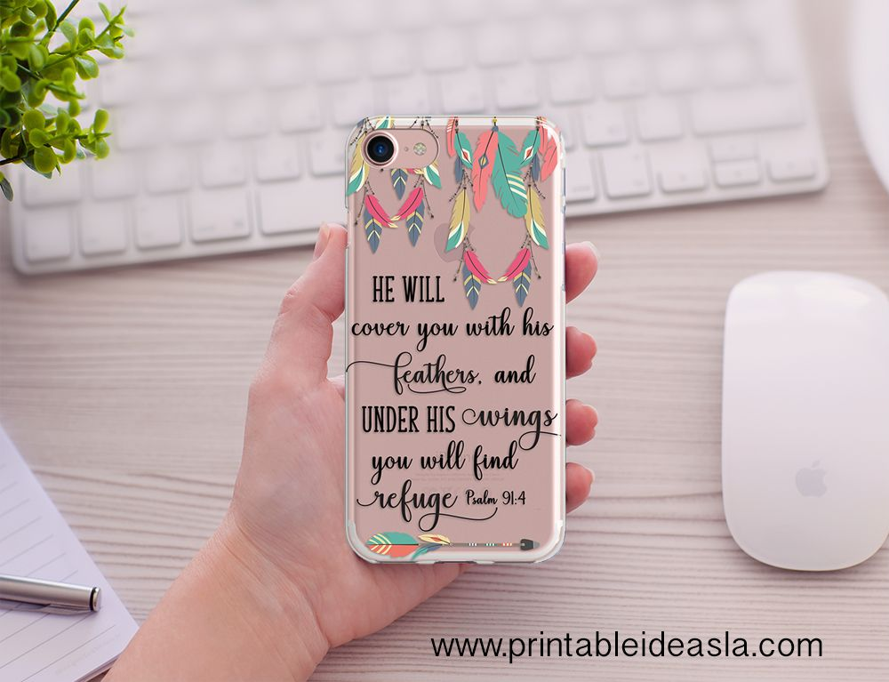 quality design f4046 ac01c Bible Verse Phone Case For with God Nothing is impossible, Floral ...