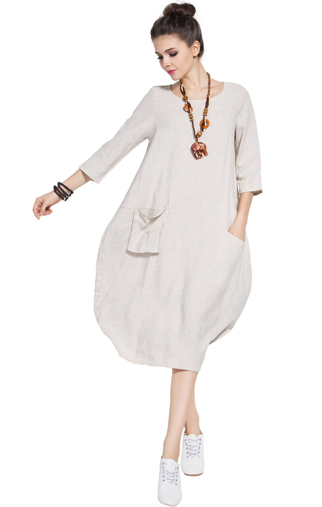 e6da8c74b5 Maternity Fashion - cool maternity dresses   Anysize Soft Linen Lantern Loose  Dress Spring Summer Fall Plus Size Clothing Y19 Beige Small Tag 93   Go to  the ...