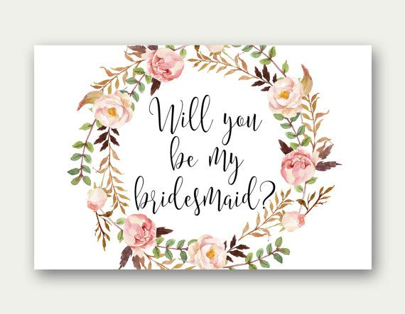 graphic relating to Bridesmaid Proposal Printable called Bridesmaid Printable Will Your self Be My via TheSunshineGarden upon