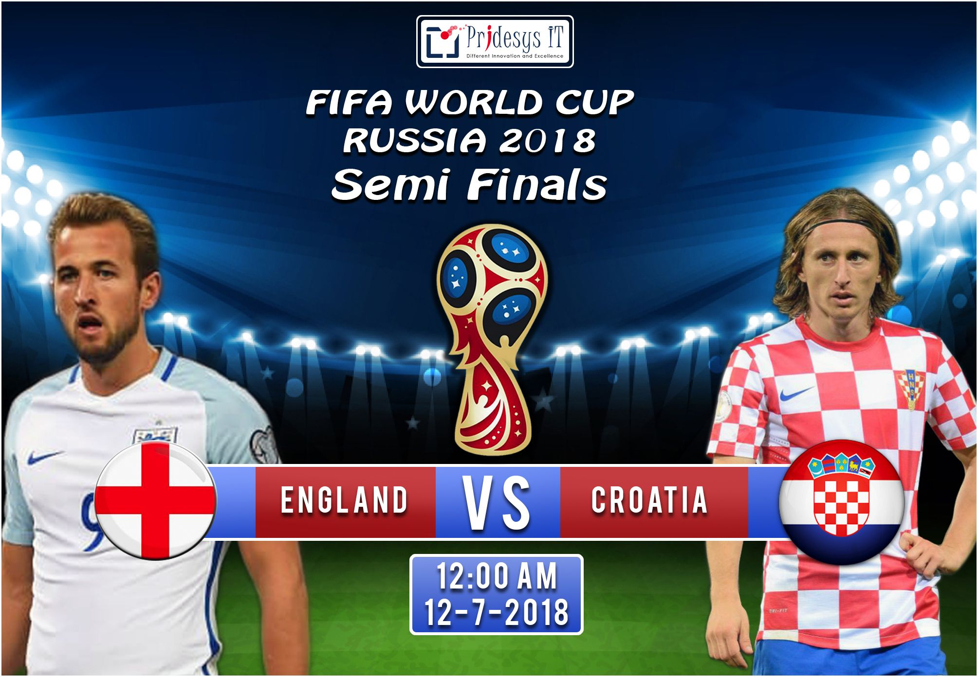 The Second Semifinals Of Fifa World Cup 2018 Russia Starts Today At 12 Am World Cup Fifa World Cup 2018