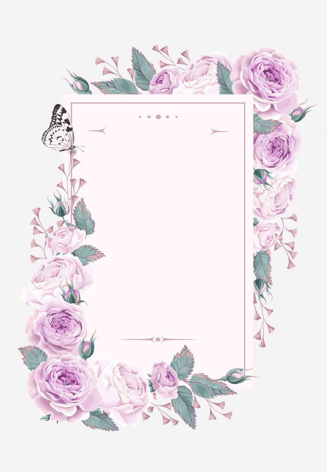 Climbing Roses Wedding Invitation Template Free In 2020