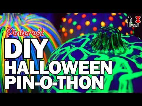 DIY Halloween PIN-O-THON - Man Vs Pin - Pinterest Test #70 - YouTube - how to make halloween decorations youtube