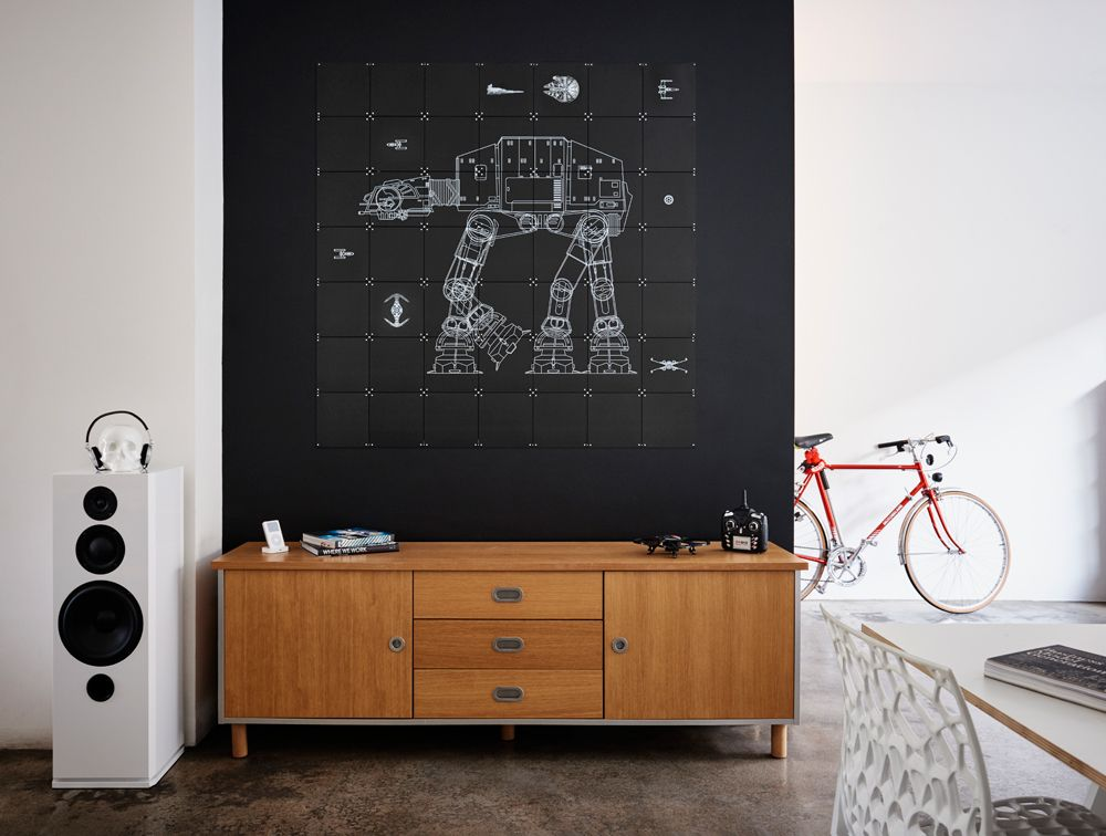 With this double sided IXXI you can create your own galaxy with AT AT Walker on one side and the space ships and vehicles on the other side! How cool is that!  www.ixxidesign.com/starwars  #IXXI #StarWars #ixxiyourworld #starwarsbyixxi #AtAtWalker #TheForceAwakens
