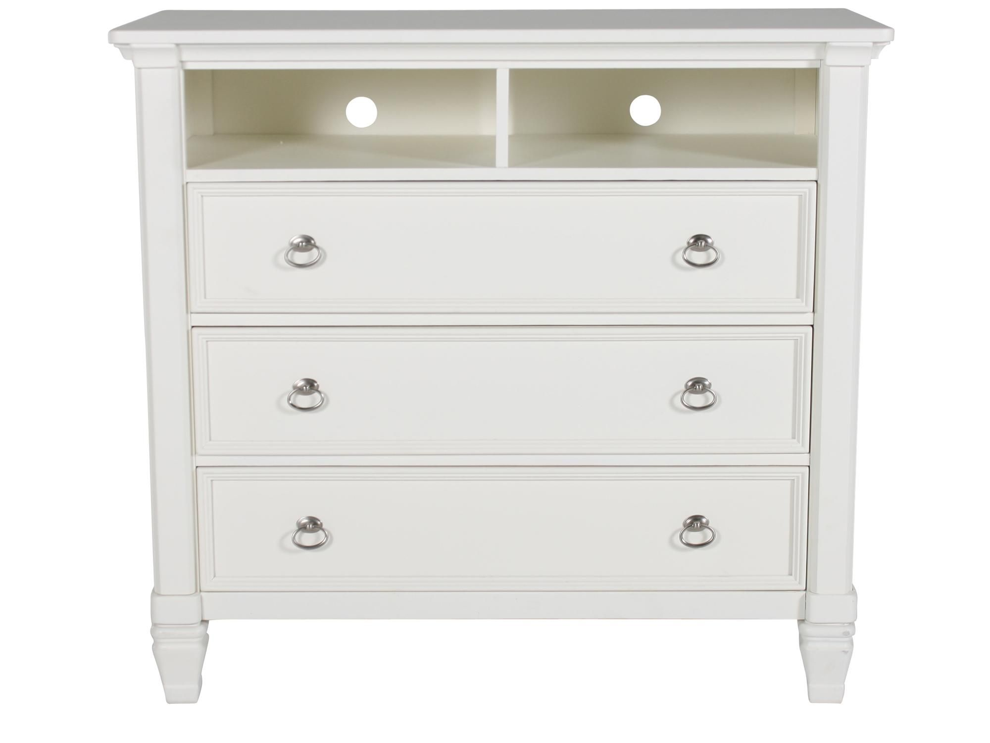 Ashley Prentice White Media Chest | Mathis Brothers Furniture ...