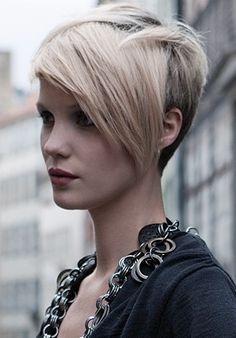 kapsels met lok kort haar