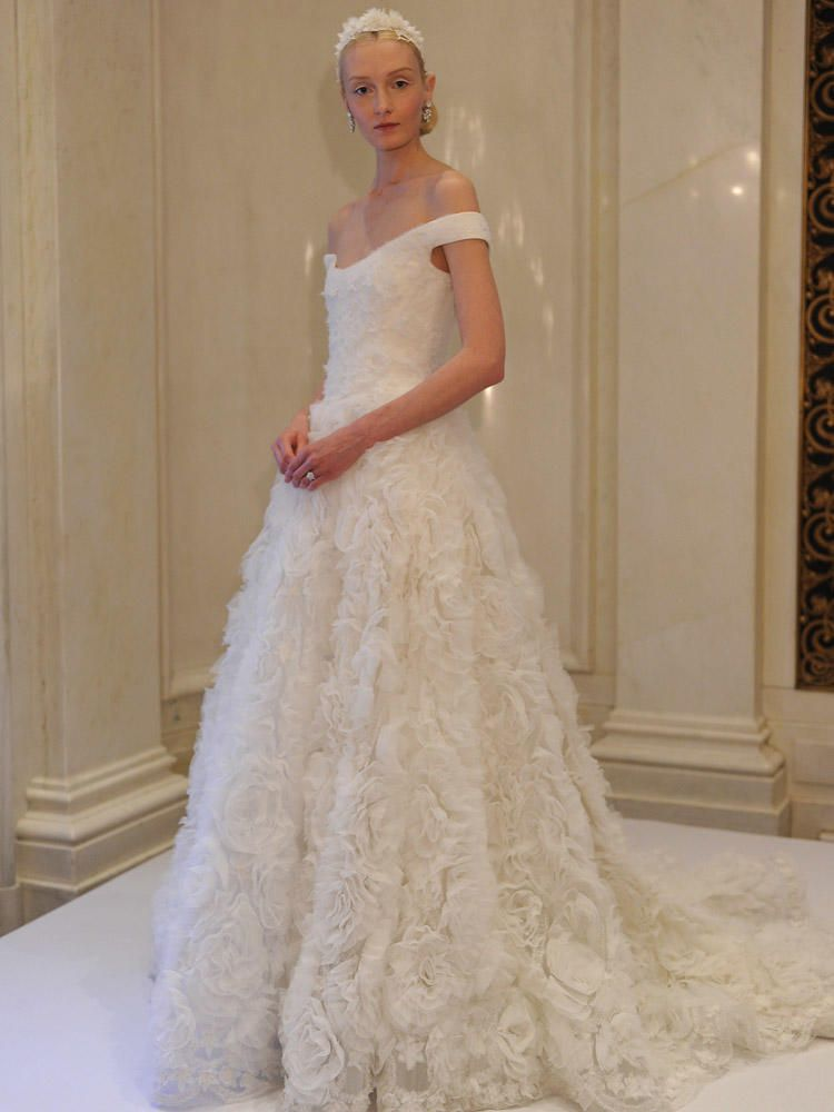 Marchesa Spring Wedding Dresses Are All About Over-the-Top