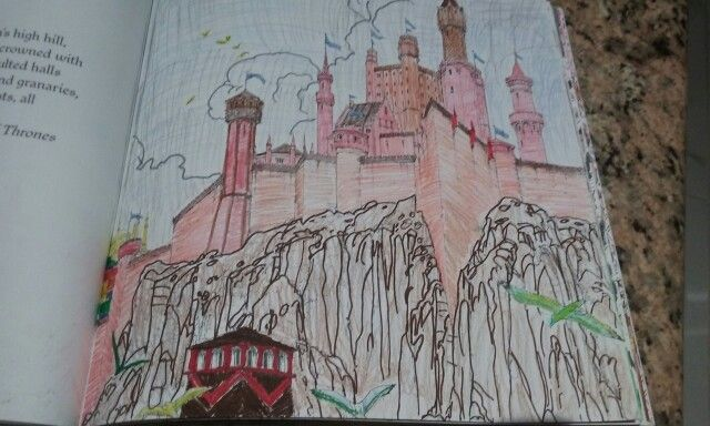 Red Keep At Kings Landing Coloring Book For Game Of Thrones