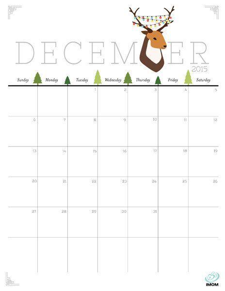 Cute And Crafty December 2015 Printable Calendar 2015 Calendar Printable Printable Calendar Calendar Printables