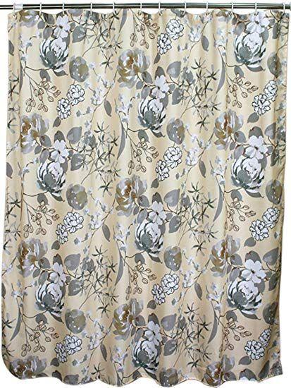 Welwo Water Repellent Waterproof Fabric Shower Curtain Liner Set