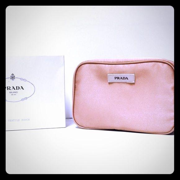 Prada Makeup Bag NWT NWT Prada makeup bag beautiful blush color comes with original box and authenticity card Prada Bags Cosmetic Bags & Cases