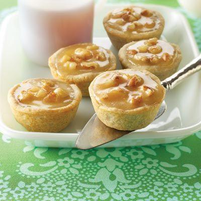Cardamom Honey Tartlets Recipe - mini cheesecake bites flavored with honey, cardamom and walnuts.