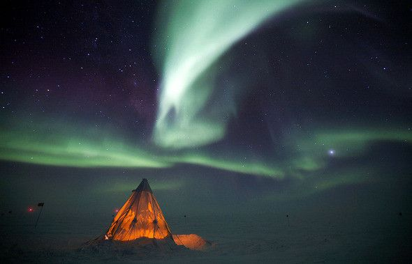 Dream vacation #1-- seeing the southern lights over Antarctica