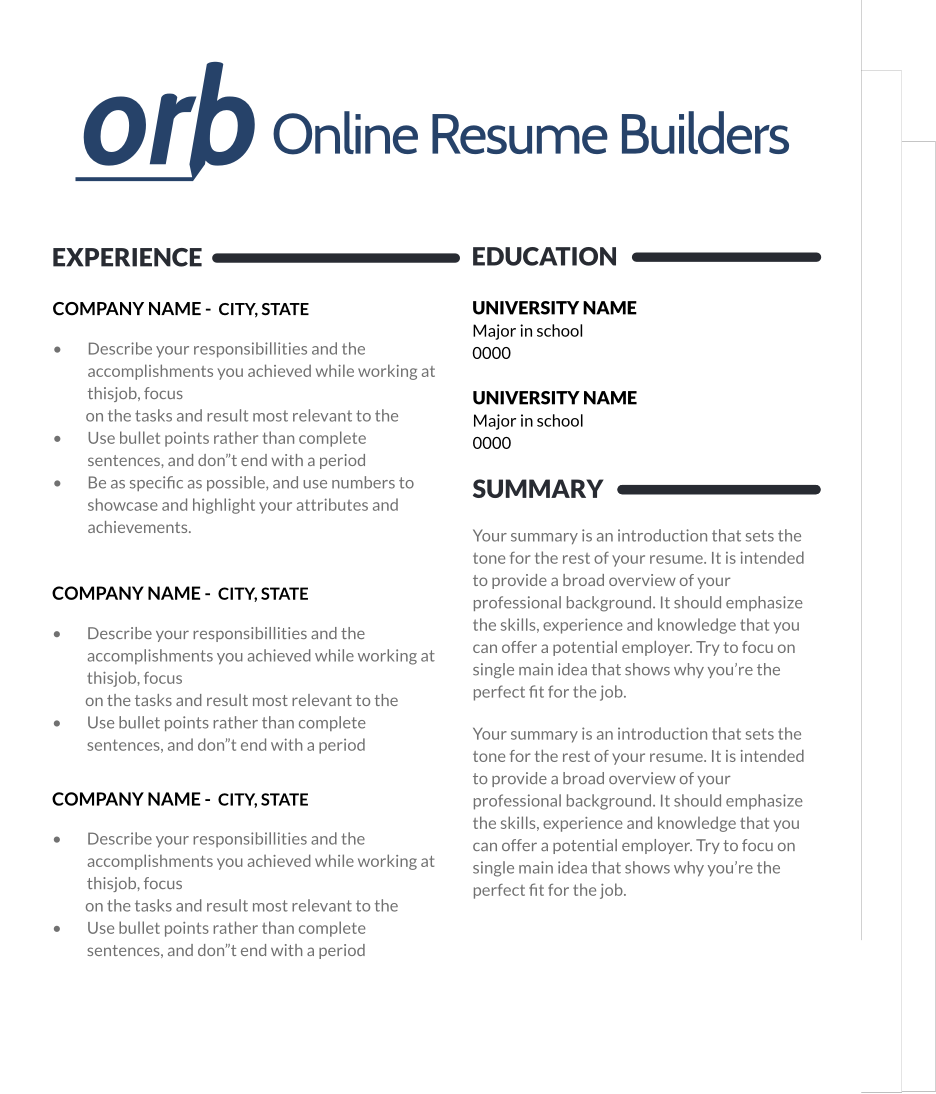 resume image  with images