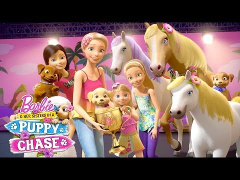 Live In The Moment Music Video Barbie Her Sister In A Puppy Chase Pink Barbie Youtube Barbie And Her Sisters Barbie Barbie Music