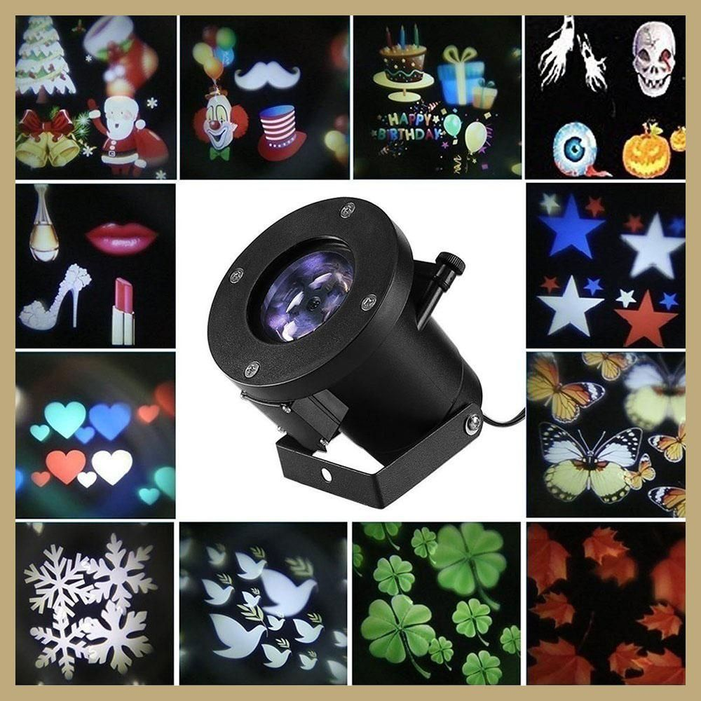 12 patterns christmas laser snowflake projector outdoor led 12 patterns christmas laser snowflake projector outdoor led waterproof dj disco lights home garden star light aloadofball Image collections