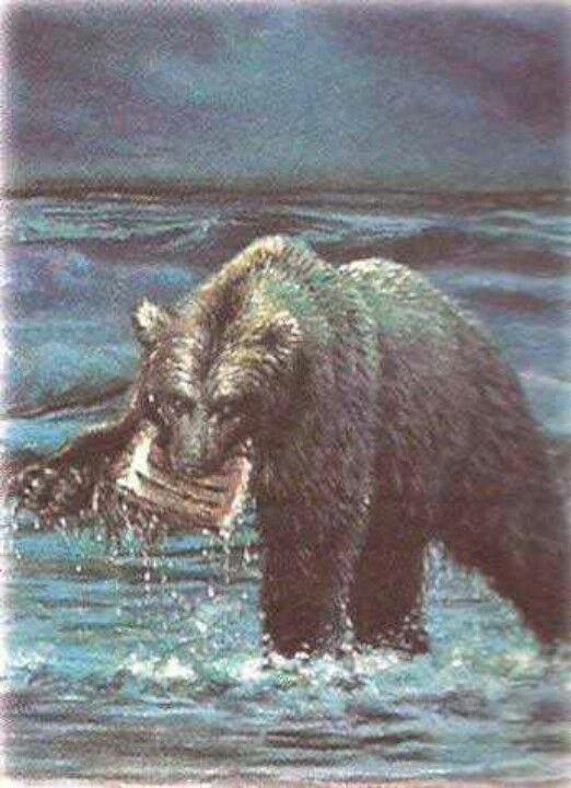 """""""And there before me was a second beast, which looked like a bear. It was raised up on one of its sides, and it had three ribs in its mouth between its teeth. It was told, 'Get up and eat your fill of flesh!'""""  Daniel 7:5"""