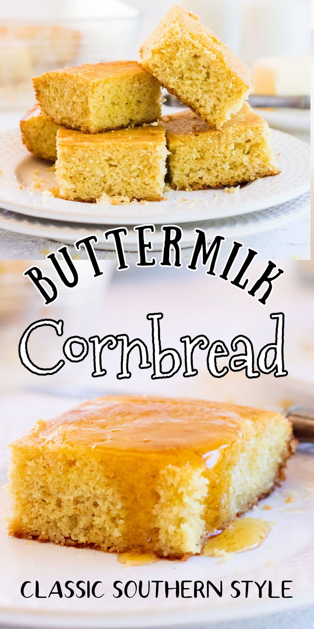 Southern Cornbread Recipe Made With Buttermilk Is A Classic Quick And Easy Cornbread Southern Classic Recipe