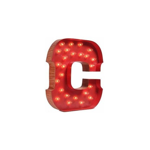 Lighted Carnival Letter ($220) ❤ Liked On Polyvore Design Ideas