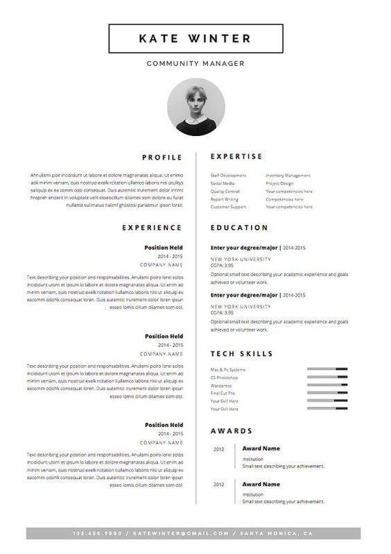 Minimalist Resume Template Minimalist Resume Letter Icon