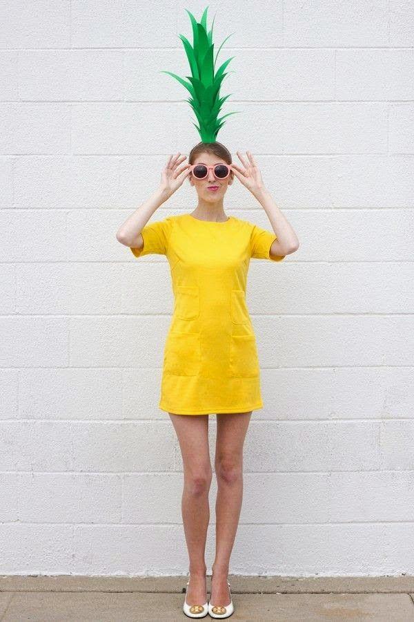 Easy #Halloween costume idea pineapple! #toocute Halloween - do it yourself halloween costume ideas
