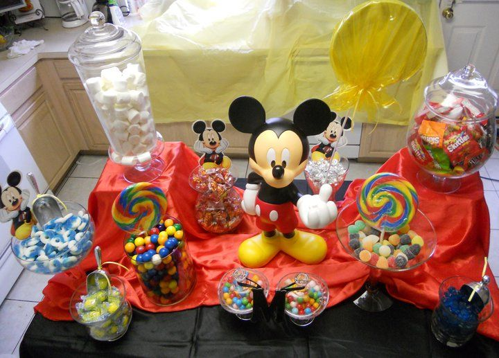 Mickey Mouse candy Buffet | Candy table | Pinterest | Mickey mouse ...