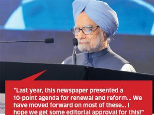 The PM addressing the Agenda for Reforms  http://economictimes.indiatimes.com/