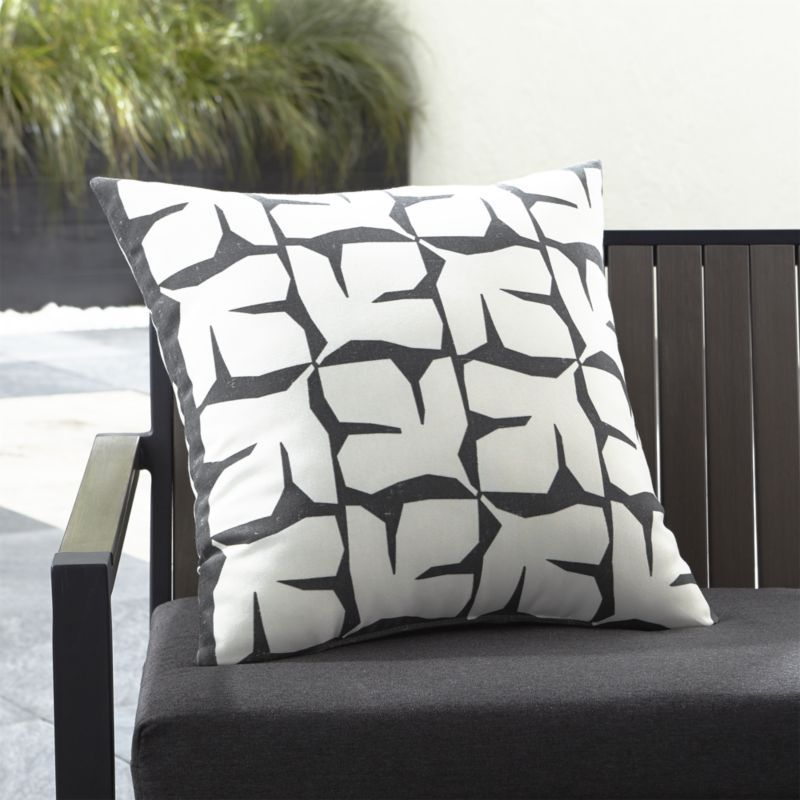 Shop Mod Leaf 20 Sq Outdoor Pillow Chunky White Leaves Alternate On Dark Grey In A Fresh Graphic Print T Outdoor Pillows Pillows Clearance Outdoor Furniture