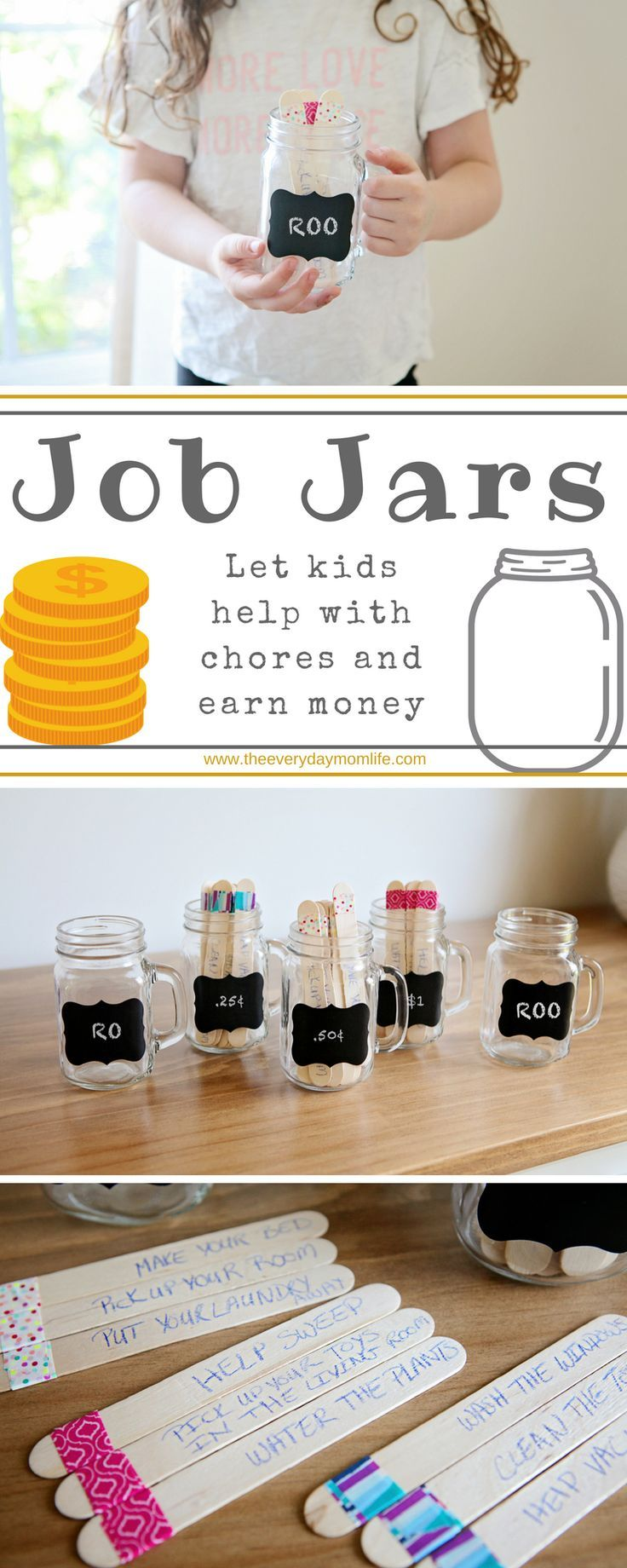 Create Job Jars To Help Track Chores For Kids Create Job Jars To Help Track Chores For Kids